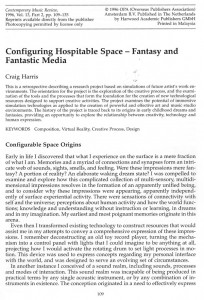 Configuring Hospitable Space