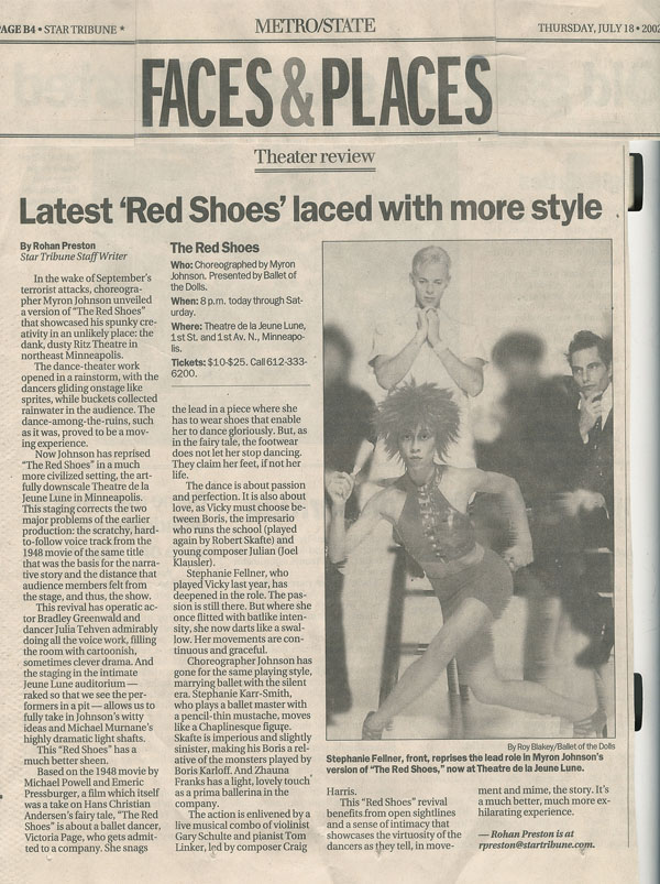 Red Shoes TJL Strib Review small