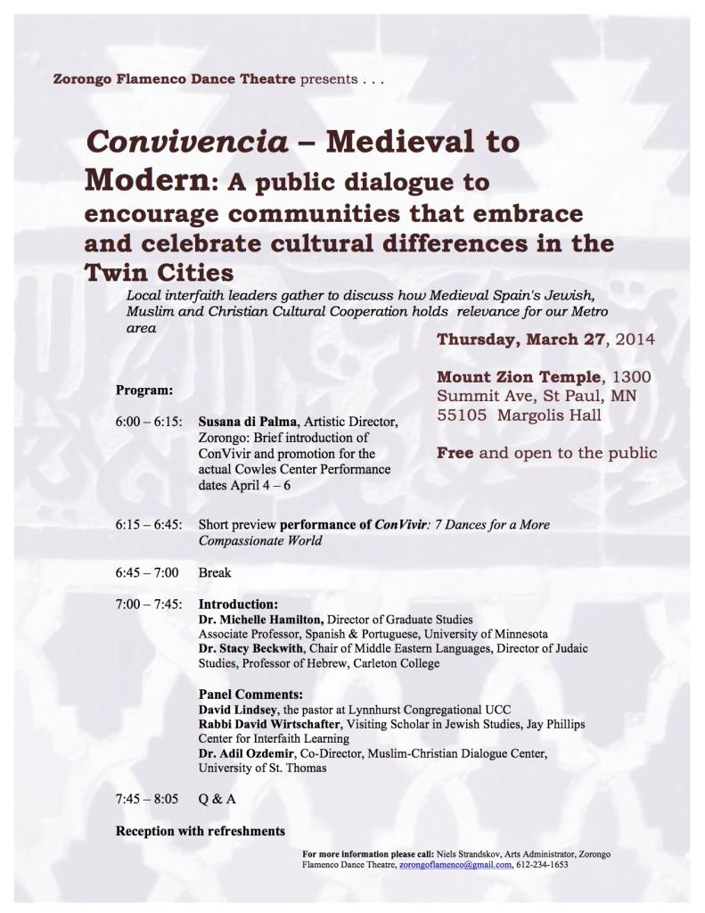 Convivencia: Medieval to Modern Public Dialogue