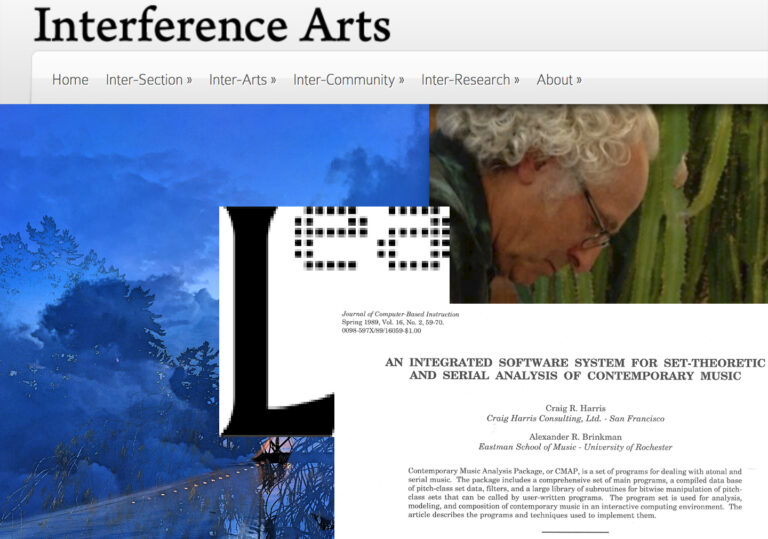 """Inter-Section II – new videos from the suite """"GONE,"""" and the origin stories about Leonardo Electronic Almanac and the Contemporary Music Analysis Package"""